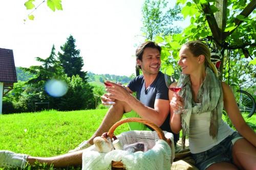 Wein im Südburgenland bei der Radpause